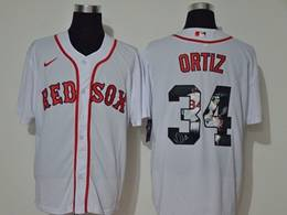 Mens Mlb Boston Red Sox #34 David Ortiz White Printing Cool Base Nike Jersey