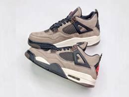 Mens Travis Scott X Air Jordan 4 Aj4 Running Shoes One Color