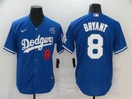 Mens Mlb Los Angeles Dodgers #8 Bryant Blue Cool Base Nike Jersey