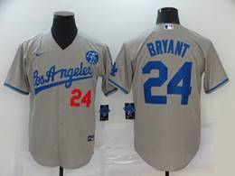 Mens Mlb Los Angeles Dodgers #24 Bryant Gray Cool Base Nike Jersey