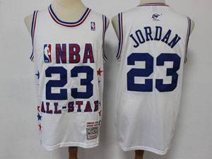 Mens Nba Chicago Bulls #23 Michael Jordan White 2003 All Star Mitchell&ness Hardwood Classics Mesh Jersey