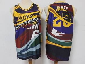 Mens Nba Los Angeles Lakers Cleveland Cavaliers Miami Heat #23 #6 Lebron James Colorful Fashion Swingman Jersey