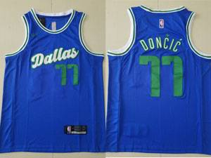 Mens 2021-20 Nba Dallas Mavericks #77 Luka Doncic Blue Nike City Edition Nike Swingman Jersey