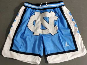 Mens Ncaa Nba North Carolina Jordan Brand Blue Shorts