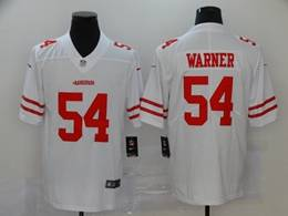 Mens Nfl San Francisco 49ers #54 Fred Warner 2020 White Vapor Untouchable Limited Jersey