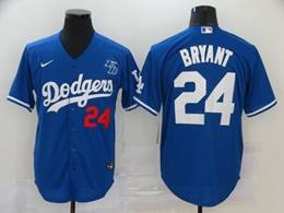 Mens Mlb Los Angeles Dodgers #24 Bryant Blue Cool Base Nike Jersey