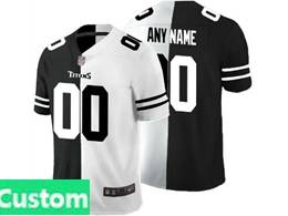 Mens Nfl Tennessee Titans Custom Made Black Vs White Peaceful Coexisting Jersey