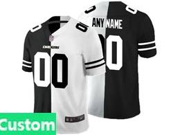 Mens Nfl Los Angeles Chargers Custom Made Black Vs White Peaceful Coexisting Jersey