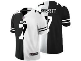 Mens Nfl Indianapolis Colts #7 Jacoby Brissett Black Vs White Peaceful Coexisting Jersey