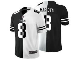 Mens Nfl Tennessee Titans #8 Marcus Mariota Black Vs White Peaceful Coexisting Jersey