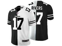Mens Nfl Los Angeles Chargers #17 Philip Rivers Black Vs White Peaceful Coexisting Jersey