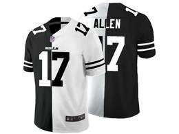Mens Nfl Green Bay Packers #17 Davante Adams Black Vs White Peaceful Coexisting Jersey