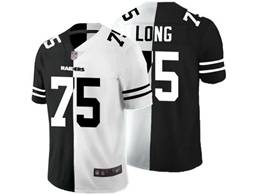 Mens Nfl Oakland Raiders #75 Howie Long Black Vs White Peaceful Coexisting Jersey