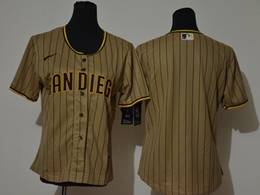 Women Youth Mlb San Diego Padres Blank Brown Stripe Cool Base Nike Jersey