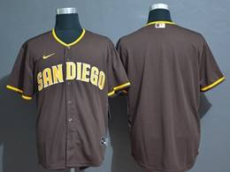 Mens Mlb San Diego Padres Blank Brown Cool Base Nike Jersey