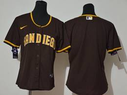 Women Youth Mlb San Diego Padres Blank Brown Cool Base Nike Jersey