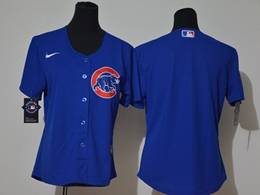 Women Youth Mlb Chicago Cubs Blank Blue Cool Base Nike Jersey