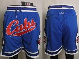 Mens Mlb Chicago Cubs Blue Just Don Pocket Shorts
