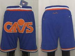 Mens Nba Cleveland Cavaliers Blue Just Don Pocket Shorts