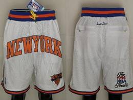 Mens Nba New York Knicks White Just Don Pocket Shorts