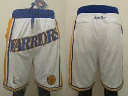 Mens Nba Golden State Warriors White Just Don Pocket Shorts