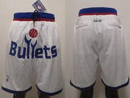 Nba Washington Wizards White Just Do Pocket Shorts