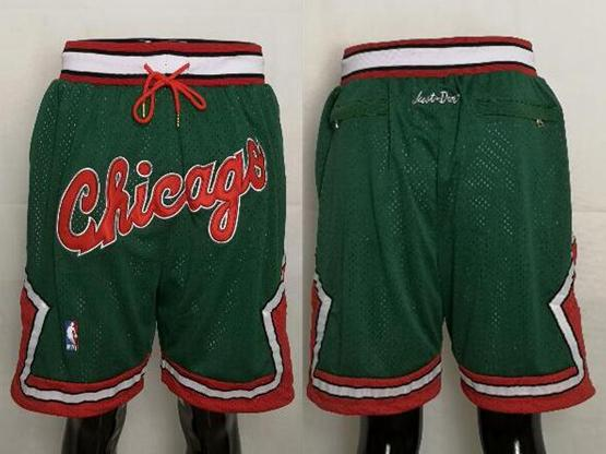 Mens Nba Chicago Bulls Green Nike Just Don Pocket Shorts