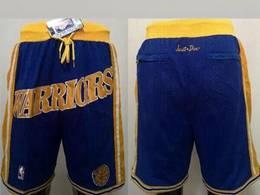 Mens Nba Golden State Warriors Blue Just Don Pocket Shorts