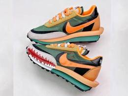 Mens And Women Bape X Sacai X Nike Ldv Waffle Running Shoes One Color