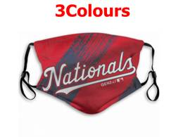 Mlb Washington Nationals Face Mask Protection 3 Styles