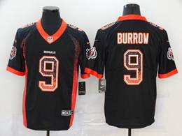Mens Nfl Cincinnati Bengals #9 Joe Burrow Black Drift Fashion Vapor Untouchable Limited Jersey