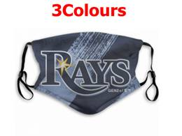 Mlb Tampa Bay Rays Face Mask Protection 3 Styles