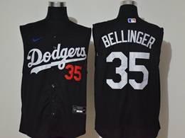 Mens Mlb Los Angeles Dodgers #35 Cody Bellinger Black Refreshing Sleeveless Fan Cool Base Nike Jersey