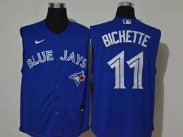 Mens Mlb Toronto Blue Jays #11 Bo Bichette Blue Refreshing Sleeveless Fan Cool Base Nike Jersey