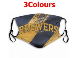 Mlb Milwaukee Brewers Face Mask Protection 3 Styles