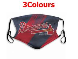 Mlb Atlanta Braves Face Mask Protection 3 Styles