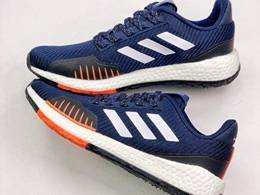 Mens Adidas Pure Boost Running Shoes Blue Color