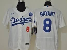 Mens Mlb Los Angeles Dodgers #8 Bryant White Flex Base Nike Jersey