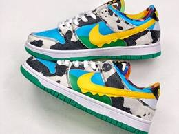 Mens And Women Ben & Jerry's X Nike Sb Dunk Low Pro Qs Running Shoes One Color