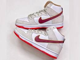 Mens Nike Sb Dunk High Team Crimson Running Shoes One Color