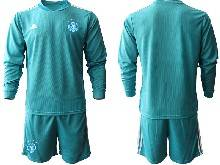 Mens Soccer Germany Ntaional Team ( Custom Made ) Blue 2021 European Cup Goalkeeper Long Sleeve Suit Jersey