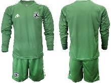 Mens Soccer Germany Ntaional Team ( Custom Made ) Green 2021 European Cup Goalkeeper Long Sleeve Suit Jersey