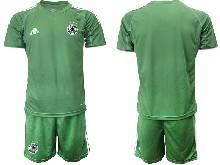 Mens Soccer Germany Ntaional Team ( Custom Made ) Green 2021 European Cup Goalkeeper Short Sleeve Suit Jersey