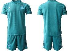 Mens Soccer Germany Ntaional Team ( Custom Made ) Blue 2021 European Cup Goalkeeper Short Sleeve Suit Jersey
