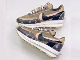 Mens And Women Sacai X Nike Lvd Waffle Daybreak Running Shoes One Color