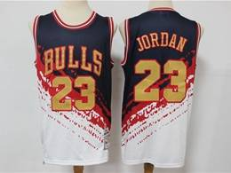 Mens Nba Chicago Bulls #23 Michael Jordan Black Mitchell&ness Hardwood Classics Independence Day Swingman Jersey