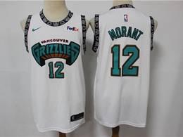Mens Nba Memphis Grizzlies #12 Ja Morant White Mitchell&ness Swingman Nike Jersey