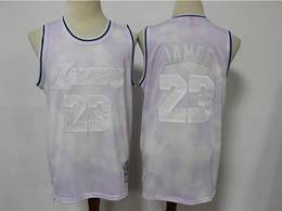 Mens Nba Chicago Bulls #23 Michael Jordan Light Purple Printing Mitchell&ness Swingman Jersey
