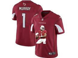 Mens Nfl Arizona Cardinals #1 Kyler Murray Red Portrait Printing Vapor Untouchable Limited Jersey