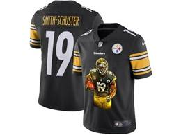 Mens Nfl Pittsburgh Steelers #19 Juju Smith-schuster Black Portrait Printing Vapor Untouchable Limited Jersey
